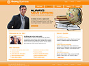 free Orange Business website template