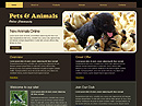 free Pets website template