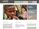 Hope free html template ID: 400000007