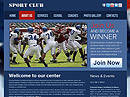 Sport club Free HTML template