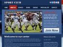 Sport clubFree HTML template