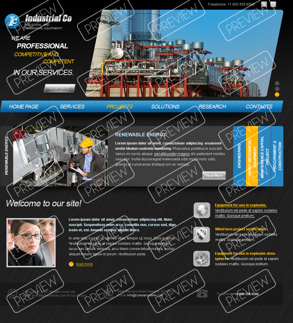 Industrial Company HTML template | Html5 Web Templates 300110935