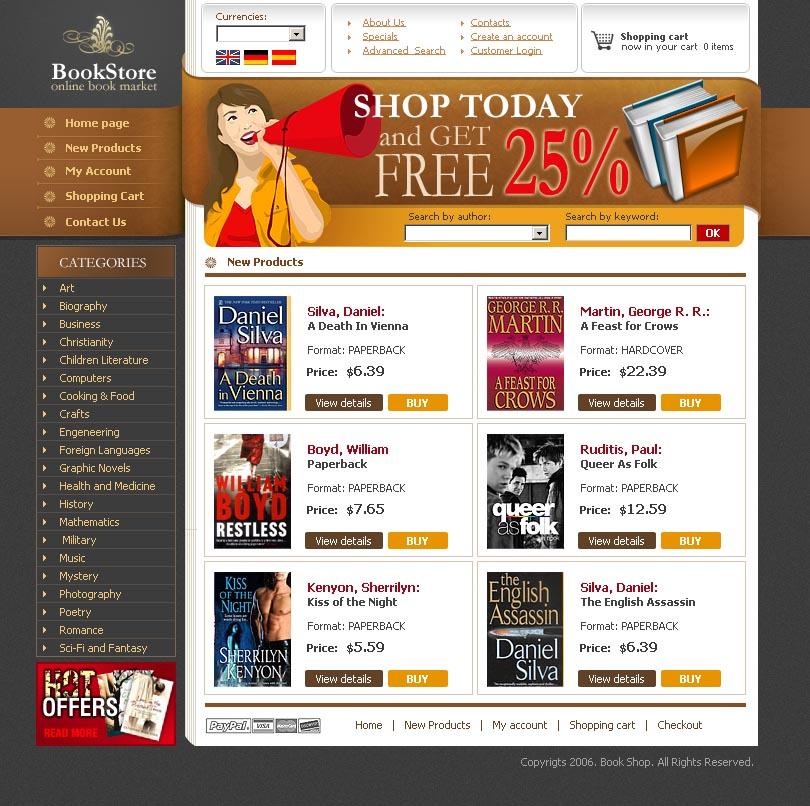 book store html website template best website templates