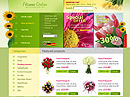 Flowers store - HTML template, GIFTS FLASH website templates