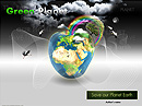 Green Planet - Powerpoint templates, Microsoft Power flash templates
