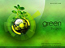 Green project Powerpoint templates